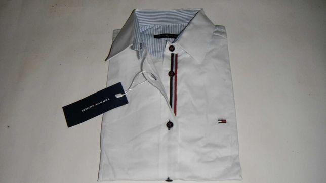 koszula tommy hilfiger biała taliowana