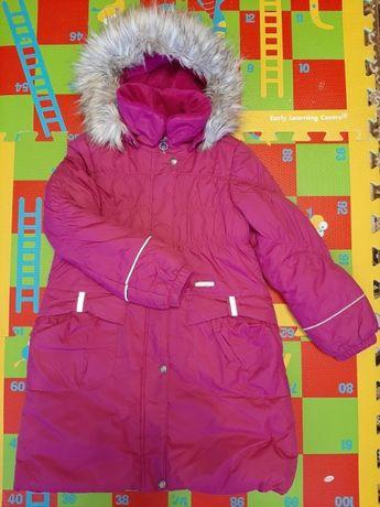 Пальто зимнее Lenne для девочки размер 128