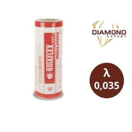 Wełna Mineralna Na Poddasze- 5,10,12,15,18,20 cm - Rolki 0,035