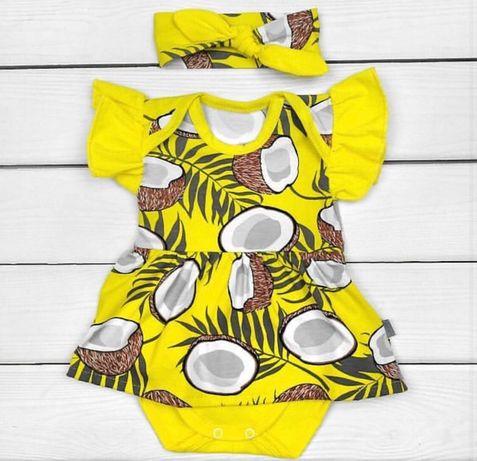 Боді-сукня із яскравим кокосиком