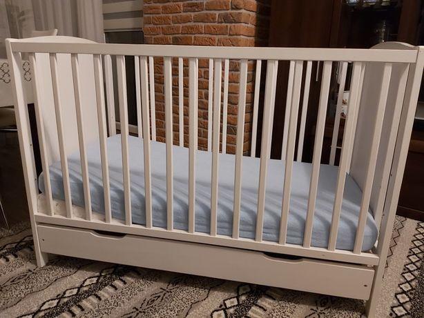Łóżeczko Dziecięce+Materac+Poduszka-klinek