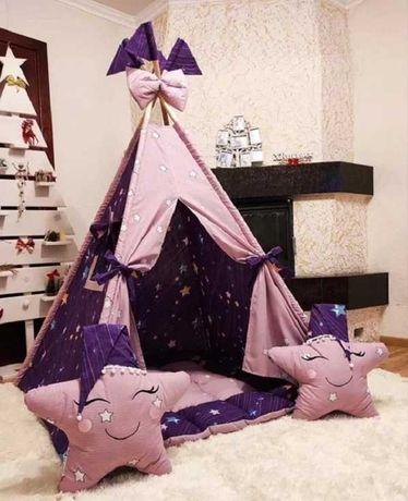 Вигвам палатка детская игровой домик Фиолетовый для девочки шалаш