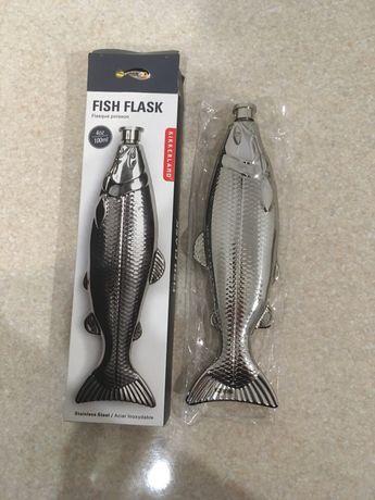 Фляга подарок для рыбака. Рыбалка