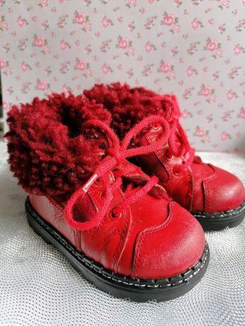 Buty buciki kozaki BARTEK czerwone skóra rozmiar 19