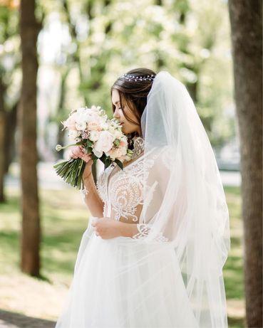 Продам свадебное платье! В подарок серьги и украшение