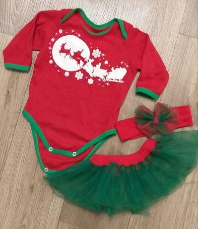Костюм новогодний и велюровое платье