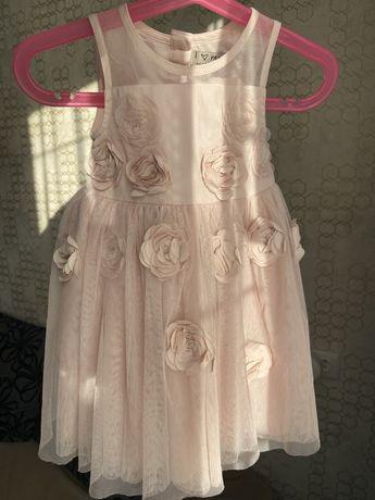 Платье платьецо пудра на крестины на праздник