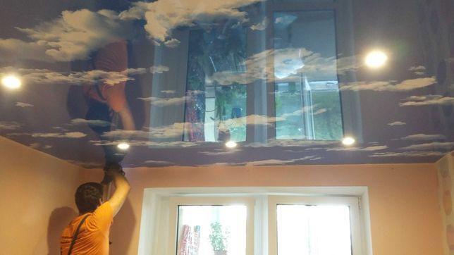 Натяжные потолки Ирпень. Ремонт потолка. Слив воды