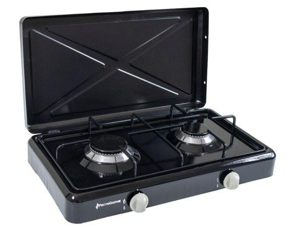 Kuchenka gazowa turystyczna 2 palnikowa czarna
