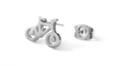 Kolczyk srebrny rower stal 316 L - 8mm/10,5mm