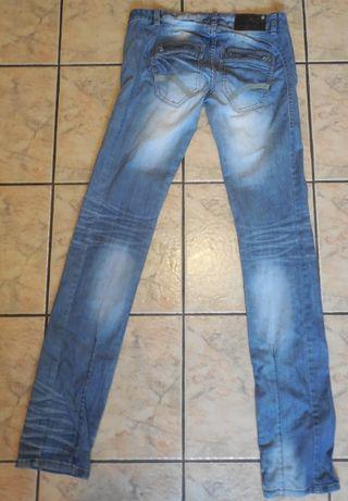 Spodnie jeansowe biodrówki BROADWAY NYC