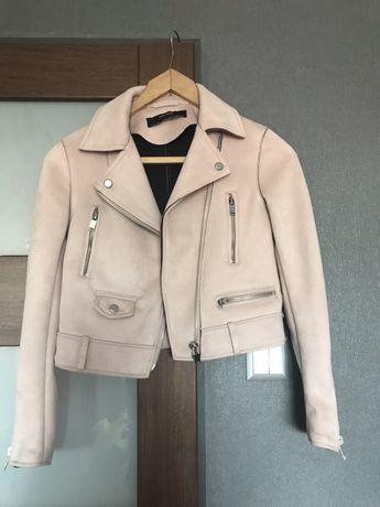 Zamszowa kurtka ramoneska Zara