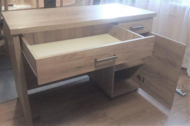biurko na kółkach wys 86 cm sonoma jasna