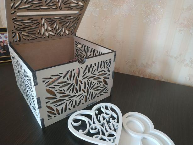 Свадебная шкатулочка для колец и Ящик под деньги