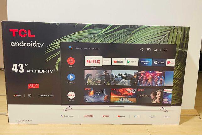 Telewizor TCL 43' 4K Androidtv nowy na gwarancji