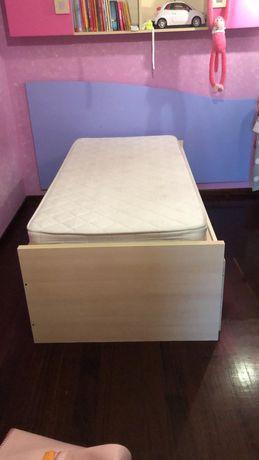 2 camas com gaveta
