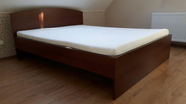 Łóżko podwójne IKEA MALM z ozebrowaniem + materac SULTAN