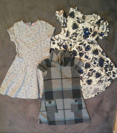 Mini paka 5 szt. dla dziewczynki r.110, zestaw sukienki spodnie