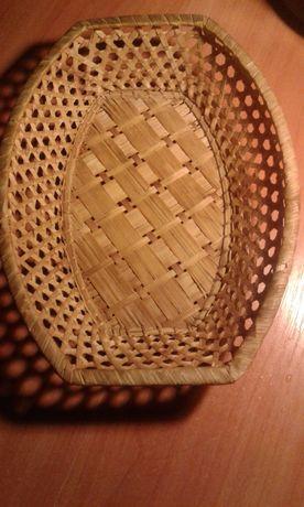 Хлебница корзина конфетница плетеная соломенная