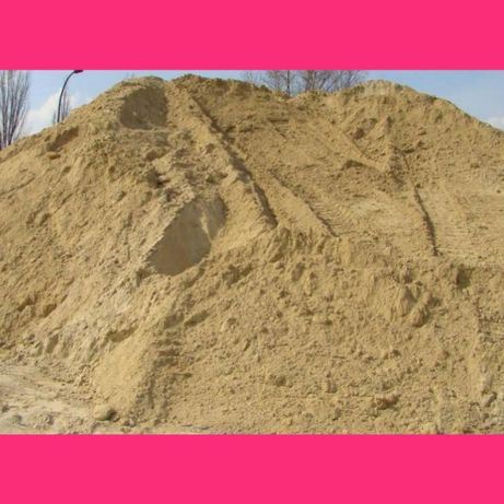 Piasek kopany piach płukany ziemia na wyrównanie żwir do murowania