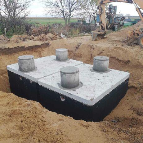 Zbiornik 10m3 Betonowe-gnojowice Szambo-ścieki Kompleksowo z wykopem