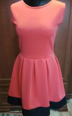 Malinowa sukienka na lato