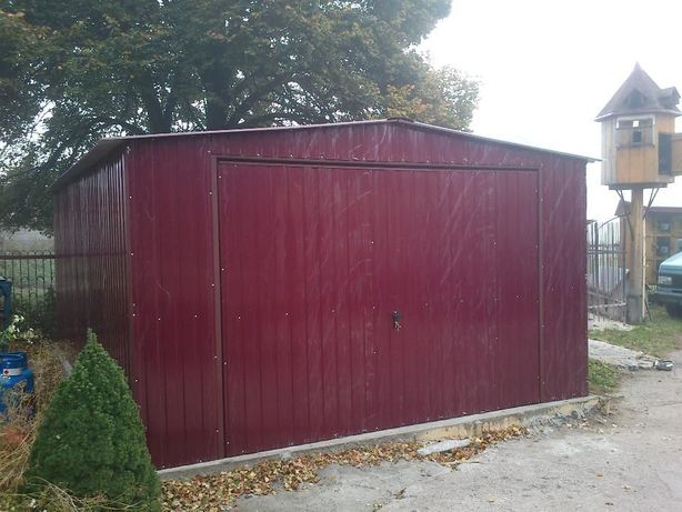Garaż blaszany kolorowy 4x6 Garaże blaszane.Kujawsko-Pomorskie.