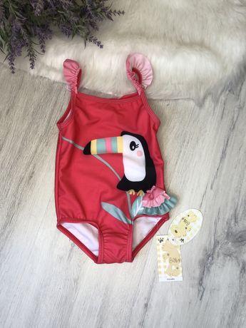 розовый купальник 3-6 месяцев