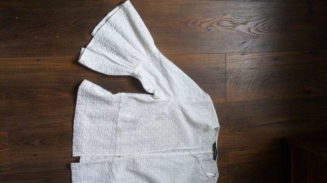 Zara biała koronkowa bawełna Xl