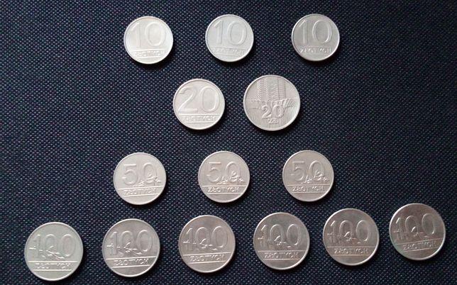 Monety stare 10, 20, 50, 100 zł