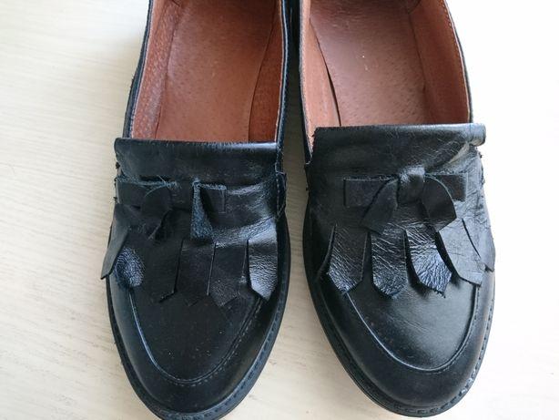 Лоферы,туфли натуральная кожа