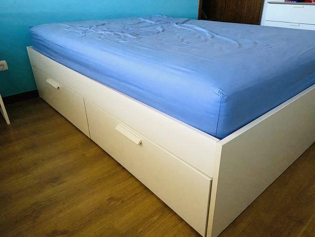 Cama BRIMNES + colchão (140x200)