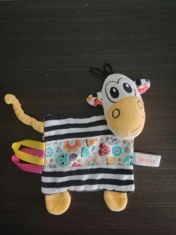 Mom's care krowa zabawka sensoryczna, szeleścik dla niemowlaka