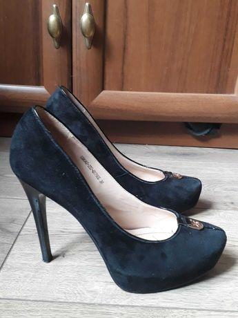 Туфли с натуральной замши и кожи