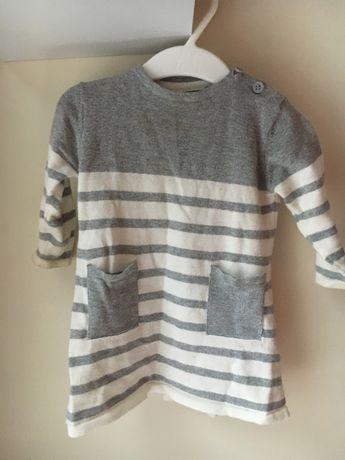 Sweterkowa sukienka r. 68