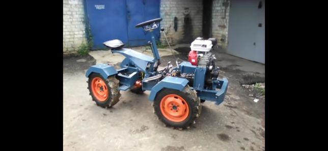 Трактор саморобний 4 на 4, переломка.