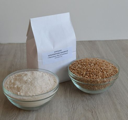 Мука цельнозерновая пшеничная Борошно цільнозернове
