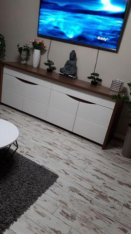 Komoda biala polysk 230 cm,szafa,meble nowoczesne,z oswietleniem led
