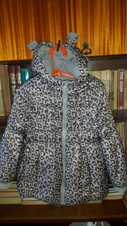 Super kurteczka kurtka bombka z uszkami na zimę r. 4-5 lat