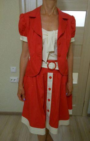 Женский костюм тройка на лето Беларусь размер 46 М (укр)