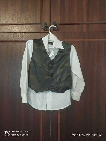 Рубашка+ жилетка на мальчика 1-3 года