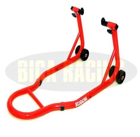 Cavalete Moto Frontal vermelho Suzuki Kawasaki Yamaha Honda KTM BMW