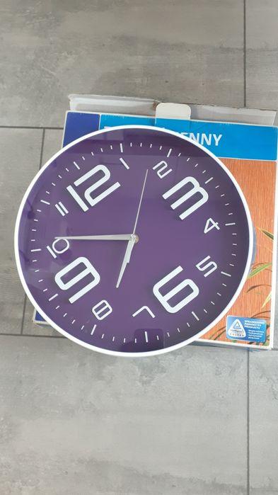 Zegar na ścianę fioletowo biały Olsztyn - image 1