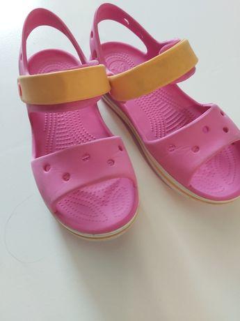 Crocsy różowe rozmiar 34 dla dziewczynki