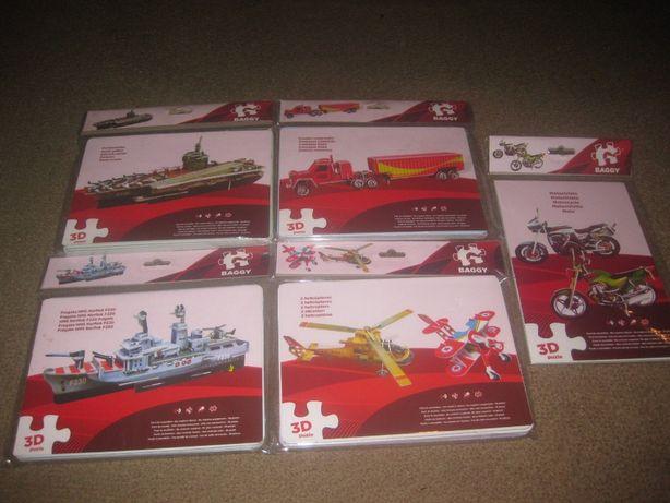 5 Puzzles 3D/Novos e Embalados!