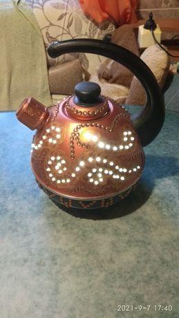 Чайник - ночник . Оригинальный дизайн .