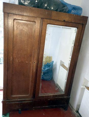 Szafa antyk stara międzywojenna lustro szuflady przedwojenna drewniana