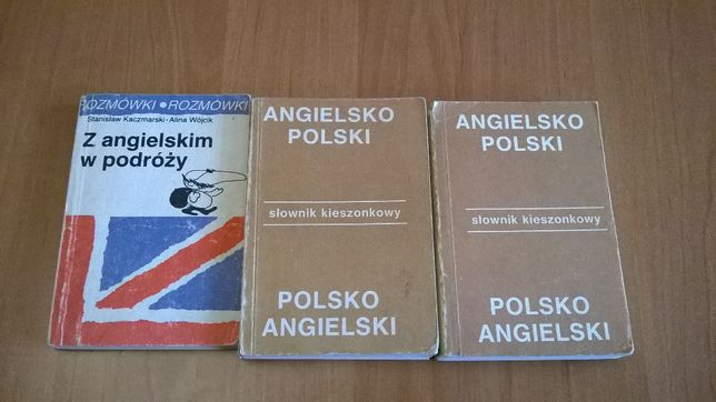 """Rozmówki """"Z angielskim w podróży"""" + Słowniki 2 tomiki"""