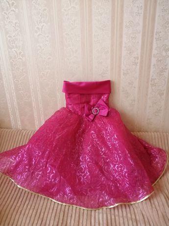 Детское пышное выпускное платье