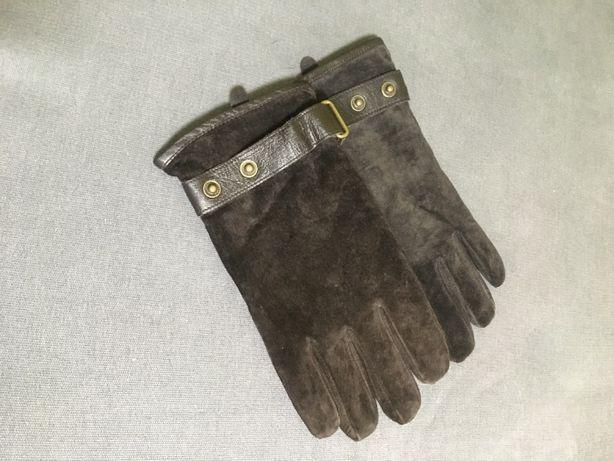 Перчатки мужские, замшевые